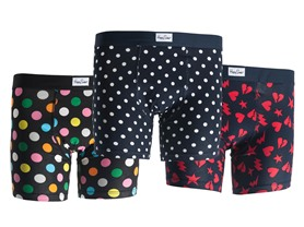 Happy Socks Men's 3-Pack Boxer Briefs