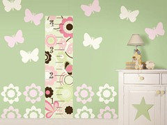 Butterfly Flower Growth Chart Kit