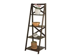 TMS  X-4 Tier Shelf - Espresso