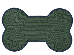 Emerald Dog Bone Color Edge Rug - 3 Sizes