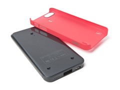 Ecopak iPhone 5 Battery Case - Blk/Red