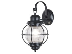 Boothbay Medium Wall Lantern, Black