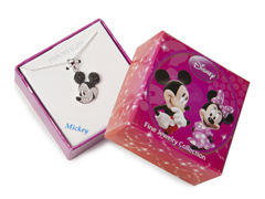 Mickey Black & White Diamond Pendant