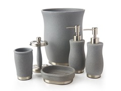 Tava 6pc Bath Set - Gray