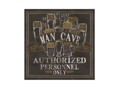 Man Cave Coasters- Set of 4