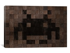 Woody Cube Invader Art 26x18 Thin