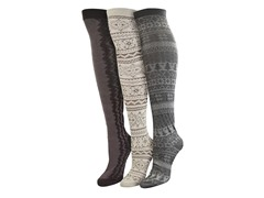 "MUK LUKS® Women's ""Neutral"" 3 Pr-Pk Over the Knee Sock"