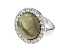 Stainless Steel & Pyrite Ring