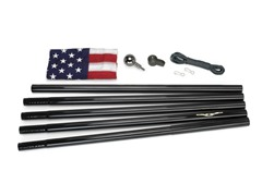 Black 18' Black In-Ground US Flag Kit