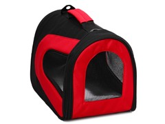 Airline Approved Pet Carrier Red & Black