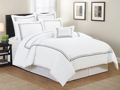 Arden Hotel Circle Embellished 7-Piece Comforter Set- Queen