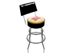 Miller High Life Padded Stool w/ Back