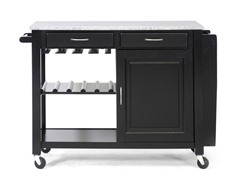 Baxton Studio Kitchen Island w/Granite