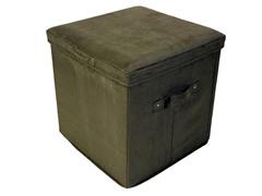 Folding Storage Ottoman- Sage