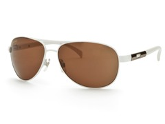 White/Brown Aviator 23 Sunglasses