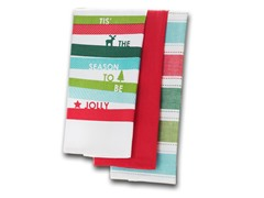 Jolly Stripe Assorted 3Pk Kitchen Towels