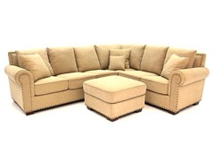 Santa Barbara Fabric Sectional w/Ottoman