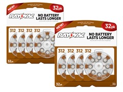 Size 312 - Hearing Aid Batteries - 64 Pack