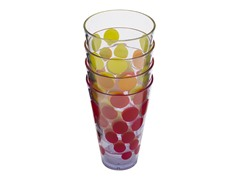 Assorted Dot Dot 10oz Water Tumblers S/4