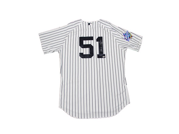 finest selection 812f6 b26a9 Bernie Williams Signed Yankees Jersey