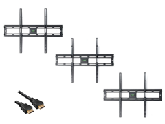 "3pk Ultra Slim Tilt Mount for 20-47"" w/ BONUS 12' HDMI"