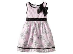 Nannette Floral & Dot Print Dress (4-6X)