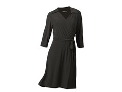 Wrap Dress with Collar, Black
