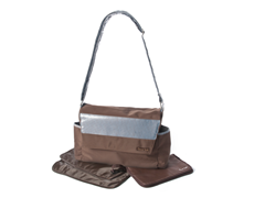 Brown Yacht Messenger Bag with Clutch