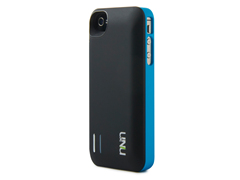 Exera iPhone4/4S Battery Case-Black/Blue