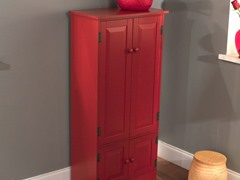 Tall Cabinet- Red