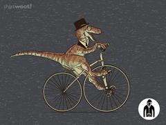 Villainous Victorian Velociraptor Jersey Zip Hoodie