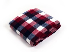 Cashmere-Like Blanket Throw - Red/Blue/White
