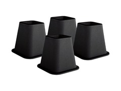 Pack of Black Bed Risers – 6 Inches