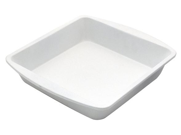 CeramaBake 8 Inch Square Cake Pan, White