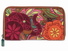 Boho Elephant Wallet, Paisley