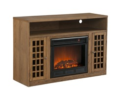 Fairfax Media Oak Electric Fireplace