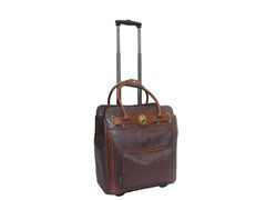 Rolling Laptop Case-Brown