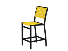 Euro Counter Chair, Black/Lemon