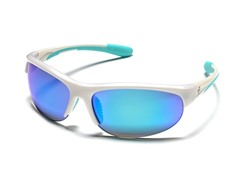 Half Frame Reflective - Pearl White/Blue