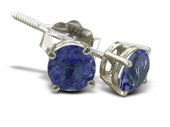 1/2ct Tanzanite Earrings in Sterling Silver