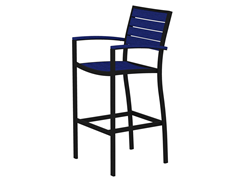 Euro Bar Chair, Black/Pacific Blue
