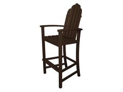 Adirondack Bar Chair, Mahogany
