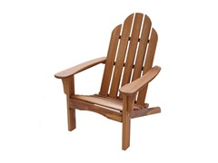 Folding Natural Wood Adirondack Chair
