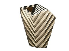 Large Striped Abstract Vase