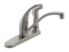 Single Handle Kitchen Faucet, Stainless