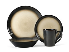 Aria Gray 16-Piece Dinnerware Set
