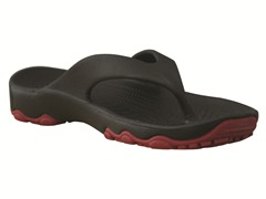 Youth Destination Flip Flop - Black/Red