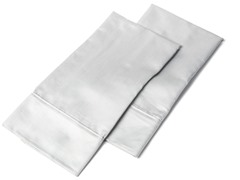 1000 TC Pillowcases-King-Set of 2-Grey