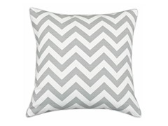 Zig Zag Ash 26x26 Floor Pillow