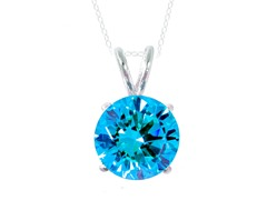 SS Blue 3.5cttw Pendant Necklace
